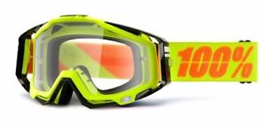 Ride 100% Racecraft Moto Neon Sign MX Goggle w/ Clear Lens, NEW!