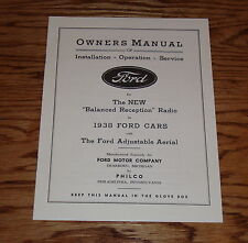 1938 Ford Radio Owners Manual Instruction Book 38