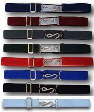 Kids Adjustable Snake Belt Boys Girls Ages 1-10 Elasticated All Colours