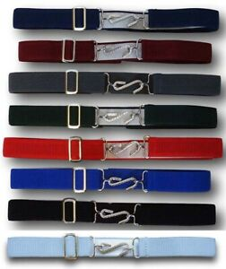 Kids Adjustable Snake Belt Boys Girls Ages 1-10 Elasticated All Colours
