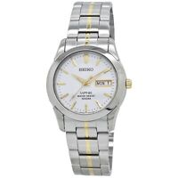 Seiko Sapphire Men's White Dial Stainless Steel Watch SGG719
