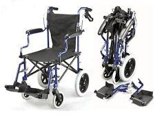 Silla de ruedas de viaje de lujo plegable ligera en una bolsa con handbrakes ECTR 04