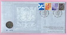 GB - ROYAL MINT 1999  Scotland £1 Coin Cover SCOTTISH PARLIAMENT - H/s Edinburgh