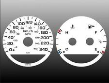 2003-2005 Dodge Neon Metric KPH KMH Dash Cluster White Face Gauges 03-05