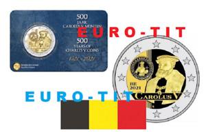 BELGIQUE  CAROLUS  V   FLAMANDE     2 EURO  2021    COINCARD  NOUVEAU   prévente