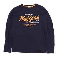 Next Mens Size M Cotton Graphic Blue T-Shirt