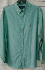 NWT Ralph Lauren Dress Shirt Classic Fit Size 18 36/37 Green Button Down