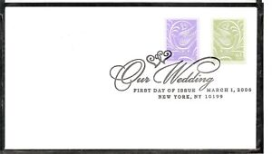 US SC # 3998-3999 Wedding Dove  FDC . Ready For cachet