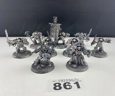 9 X Warhammer 40K Gris Caballero terminadores de plástico
