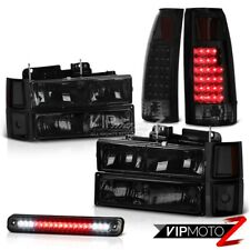 94-98 Chevy Silverado Smoked Roof Cargo Lamp Tail Lamps Headlamps Bumper Corner