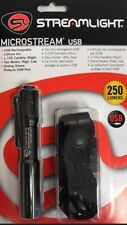 STREAMLIGHT 66601 MICROSTREAM LED FLASHLIGHT USB RECHARGEABLE NEW 250 LUMENS