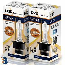 D2S LUNEX HID XENON BULBS P32d-2 Original 35W Colour Match 4300K Twin Box