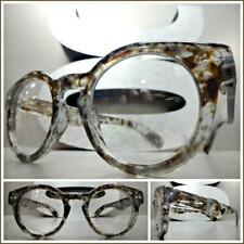 55426207eeadd Men CLASSIC RETRO Style Clear Lens EYE GLASSES Small Gray Tortoise Fashion  Frame