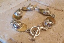 Sterling Silver 925 Baseball CAP Toggle Bracelet A Great Gift Idea!