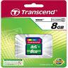 Transcend 8GB SDHC SD Secure Digital Memory Card Class 4