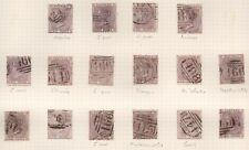 1856 SG68/70 6d LILAC SHADES WMK EMBLEMS USED CANCELLATION COLLECTION CAT £6450