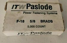 """New listing Itw Paslode 5/8"""" Straight Finish Nails, 18 Gauge, 5000/Bx, New F-18 Ctn# 198608"""