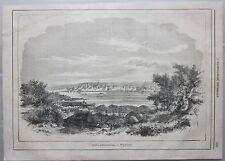1866 PARENZO Città adriatiche veduta xilografia Illustrazione Universale Poreč