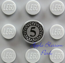 NEW Lego Minifig 5 CENT COIN 1x1 Round Silver Gray Flat Printed Tile -Bank Money