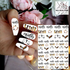 WATERSLIDE NAIL DECALS EQUALITY FOR ALL HUMAN RIGHTS WATER TRASFER STICKERS