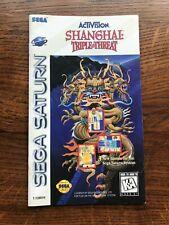 Shanghai Triple Threat Sega Saturn Game Instruction Manual Only