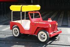 Tonka Life Guard Jeep w/ Raft - pressed steel - USA