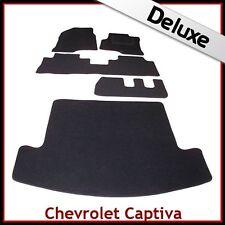 CHEVROLET CAPTIVA 7-POSTI 2006 in poi su misura Lux 1300 G auto e le stuoie di avvio Nero