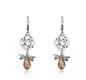 Outlander Dragonfly Drop Earrings Claire Fraser Sassenach Outlander Jewellery