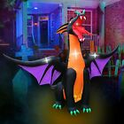 12 FT Fire & Ice Dragon with Wings, Inflatable Halloween Decoration for