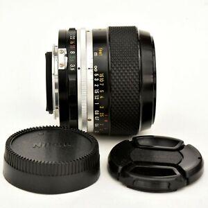 Micro Nikkor 55mm f/3.5 PRE-AI spr shp Macro Lens. Exc++++. Tested. See Tst Imgs