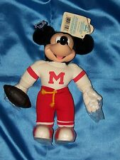 "MICKEY MOUSE: 10"" Football Player, Plush, Vinyl & Cloth, Applause, New w Tags!"