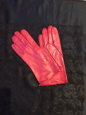 ROECKL Handschuhe  NAPPALEDER  Gr. 7,5 ROT, Seidenfutter eierschalfarben NEU