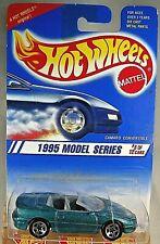 1995 Vintage Hot Wheels #344 Model Series CAMARO CONVERTIBLE Aqua w/5 Sp Variant