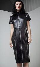 Disturbia Dolls Kill Gothic PU Leather Pencil Dress Zipper BDSM UK 6 XS