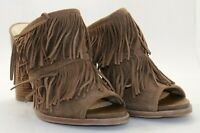 French Connection, Uriah fringe suede mules - Used women's shoes, (Size 9 US)
