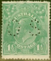 Australia 1918 1 1/2d Green SG070 Good Mtd Mint