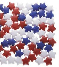 Awesome Acrylic Patriotic Pony Star Beads (200)