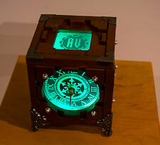 Back to listings Customized Lighted Wood Steampunk Portal Cube Clock