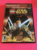 🔥 SONY PS2 PlayStation Two 💯 COMPLETE WORKING GAME 🔥LEGO STAR WARS🔥SUPER FUN