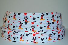 "1 yd 7/8"" Grosgrain Ribbon MICKEY MOUSE CLUB HOUSE PRINTED FOR HAIRBOW. REF5"
