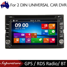 "6.2"" Touch Screen Double 2 DIN Car DVD Player Stereo Radio GPS Bluetooth CD"