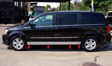 "2008-2018 Dodge Grand Caravan Chrome Rocker Panel Trim Body Side Molding 5.5""8Pc"