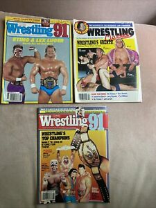 Wrestling's Magazine Lot Of 3 From 1991 You Get All 3 In Pictures