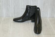 Sesto Meucci Yogita Waterproof Leather Booties, Women's Size 7.5, Black NEW