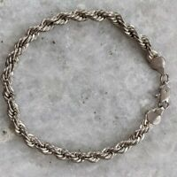 Thick Twisted Rope 925 Sterling Silver Chain Bracelet 14gr