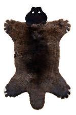 Naturaleza cordero juego alfombra oso pardo oveja fell alfombra alfil 130x80cm lavable