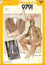 Simplicity # 9791 Sewing Pattern: Mens Pants & Lined Jacket Factory Folded Uncut