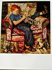 Norman Rockwell  Poster of Practice 14x11 Offset Lithograph Unsigned
