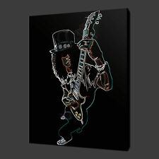 """SLASH GUITAR ABSTRACT MUSIC CANVAS WALL ART PICTURES PRINTS 20""""x16"""" FREE UK P&P"""