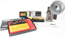 MISCELLANEOUS CAMERAS, DUAFLEX WITH FLASH, TELE 110, KODAK DISC IN BOX WITH FILM